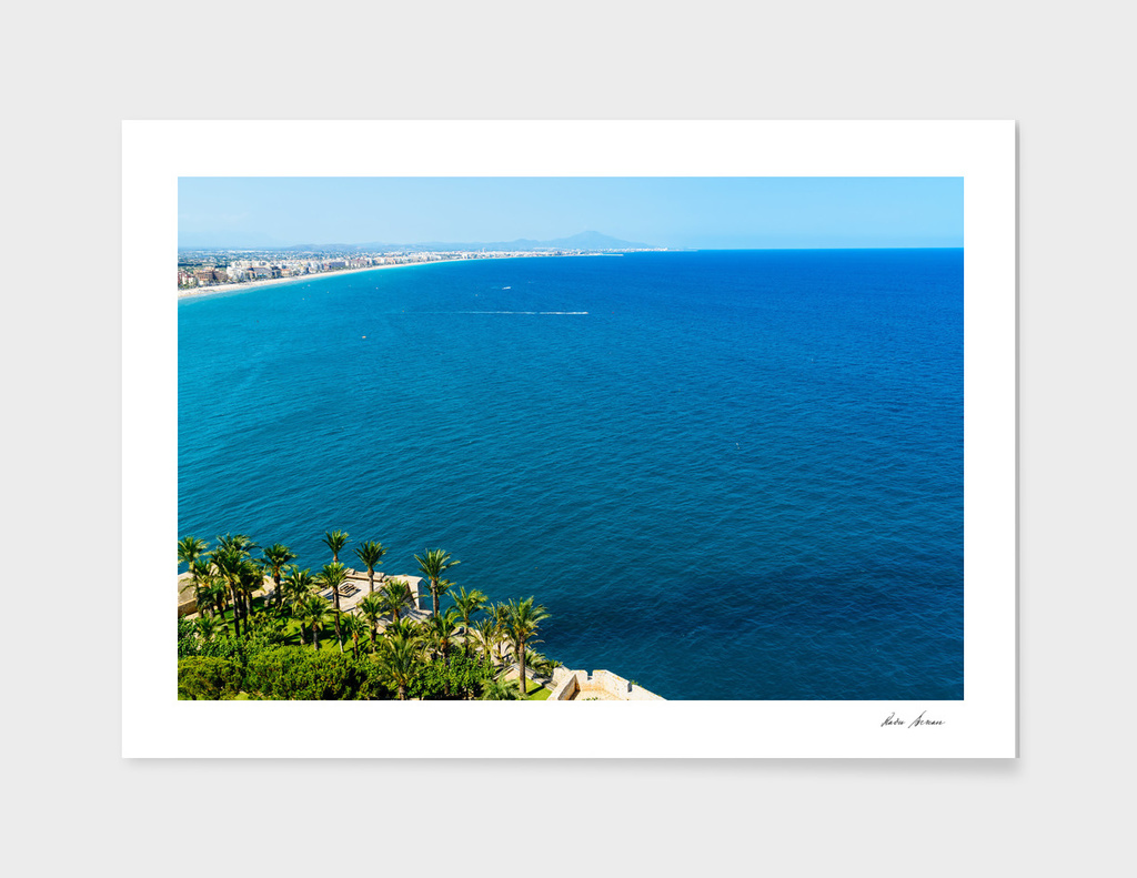 Aerial View Over Mediterranean Sea In Spain