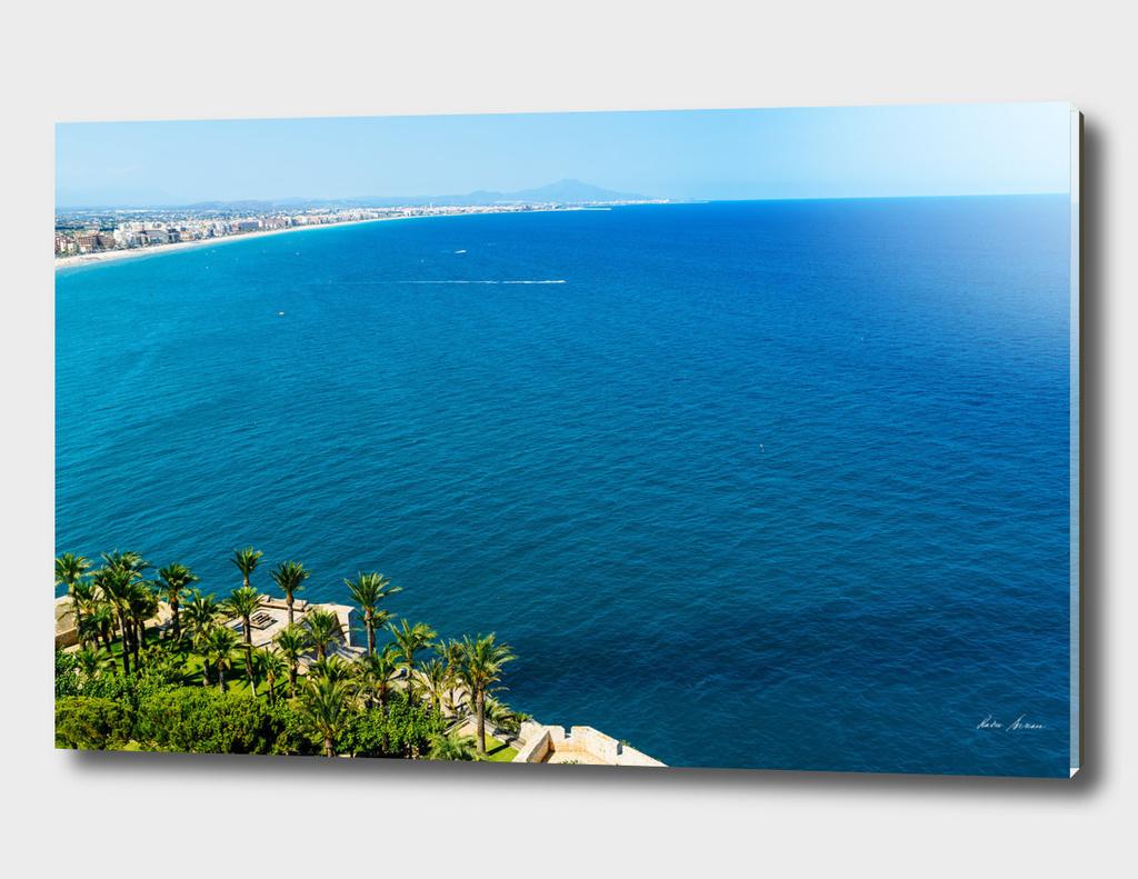 Aerial View Over Mediterranean Sea In Spain