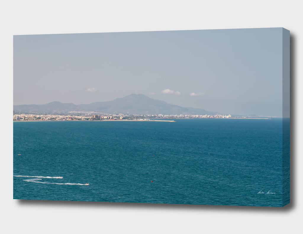 Mountains And Mediterranean Sea Aerial View In Spain