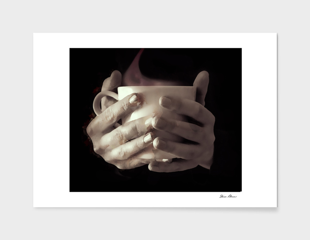 Cup of Steaming Coffee Hand Warmer