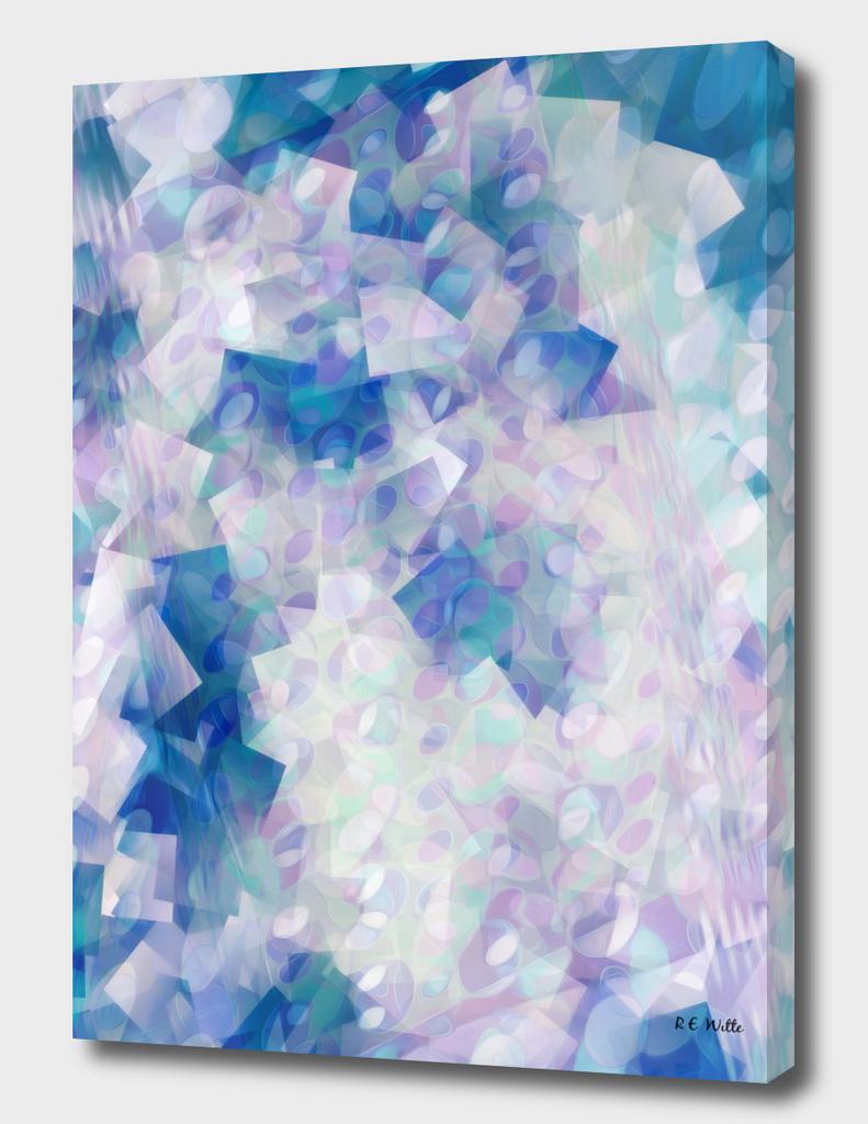 Pastel violets, Blue roses