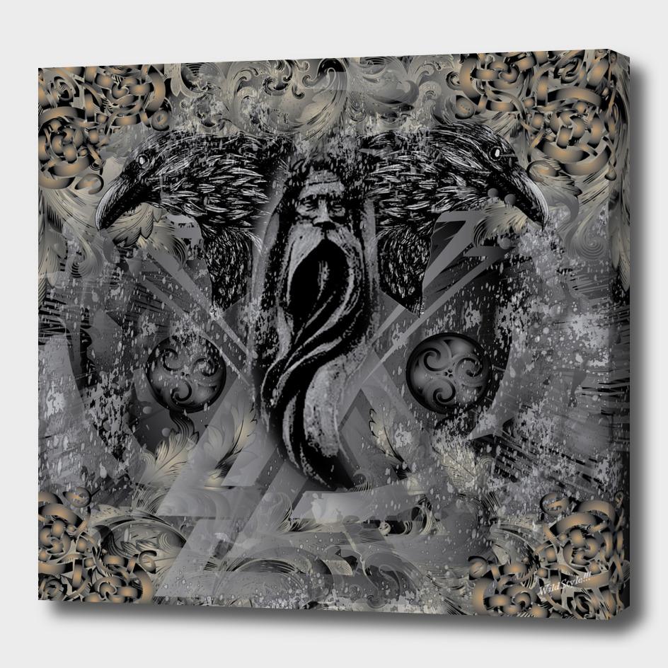 Viking Odin Ravens Valknut