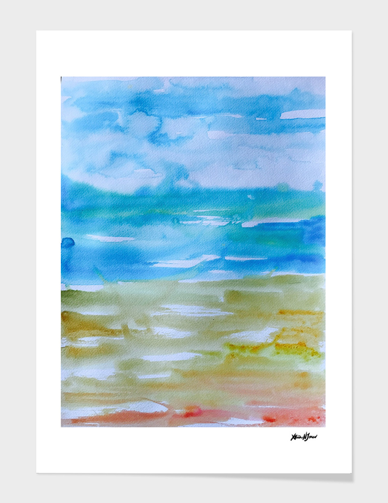 Miami Beach Watercolor #1