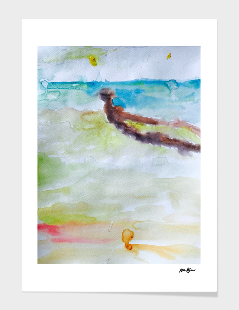 Miami Beach Watercolor #3