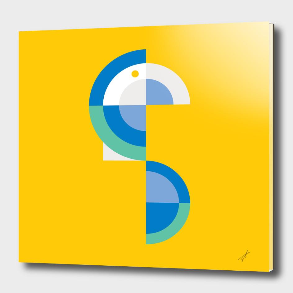 Quadrant Blue Parrot II