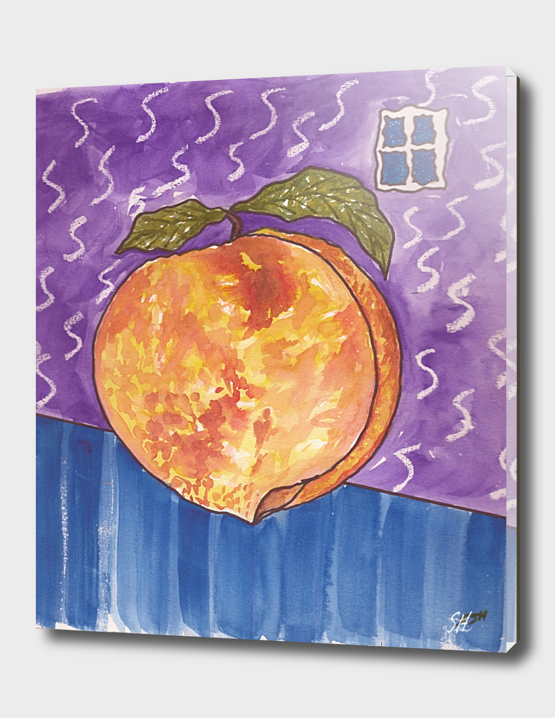 Surreal Peach In A Room With A Window