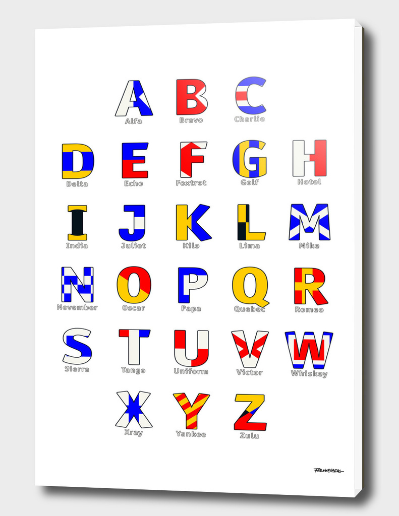 Navy Alphabet - Nautical Flag Code - All Letters