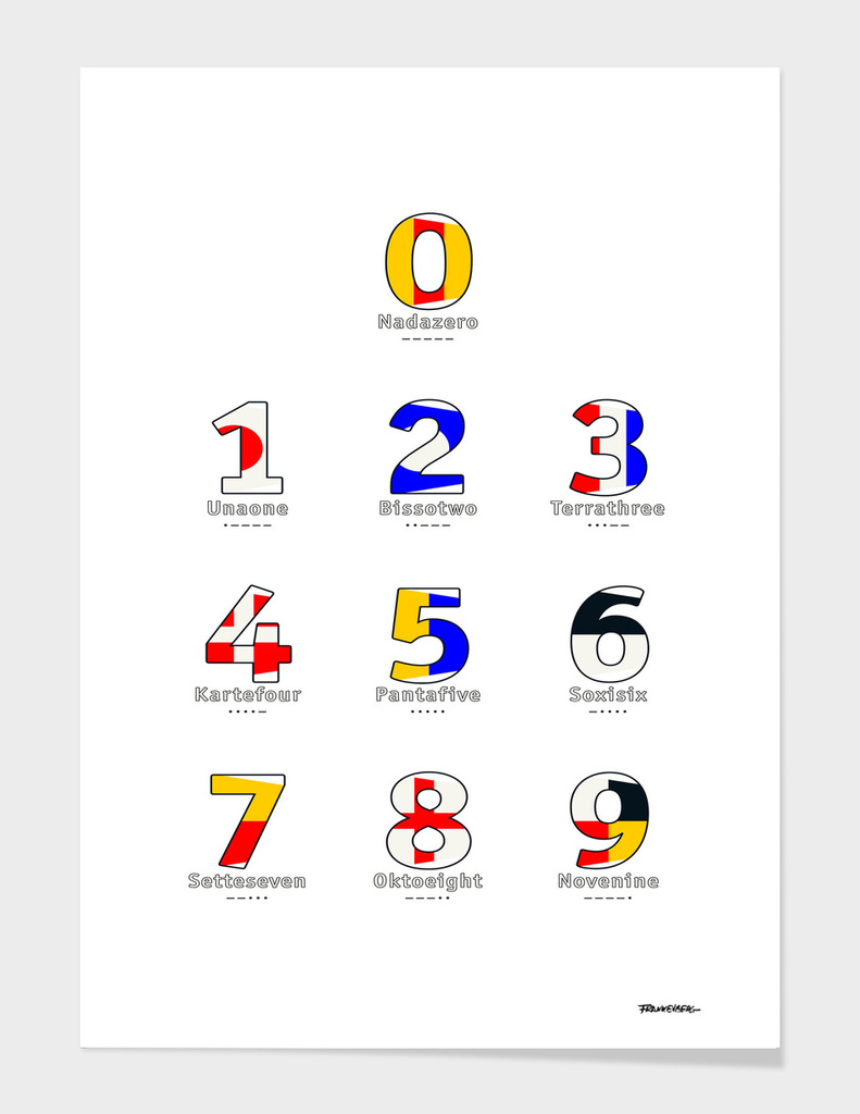 Navy Alphabet - Nautical Flag Code - All Numbers