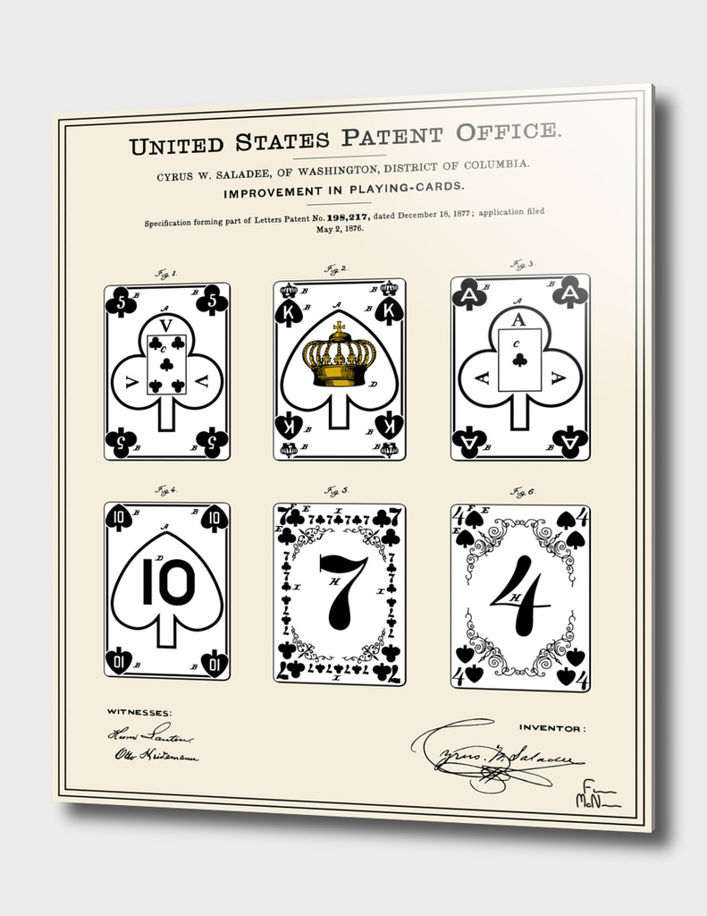Playing Cards Patent