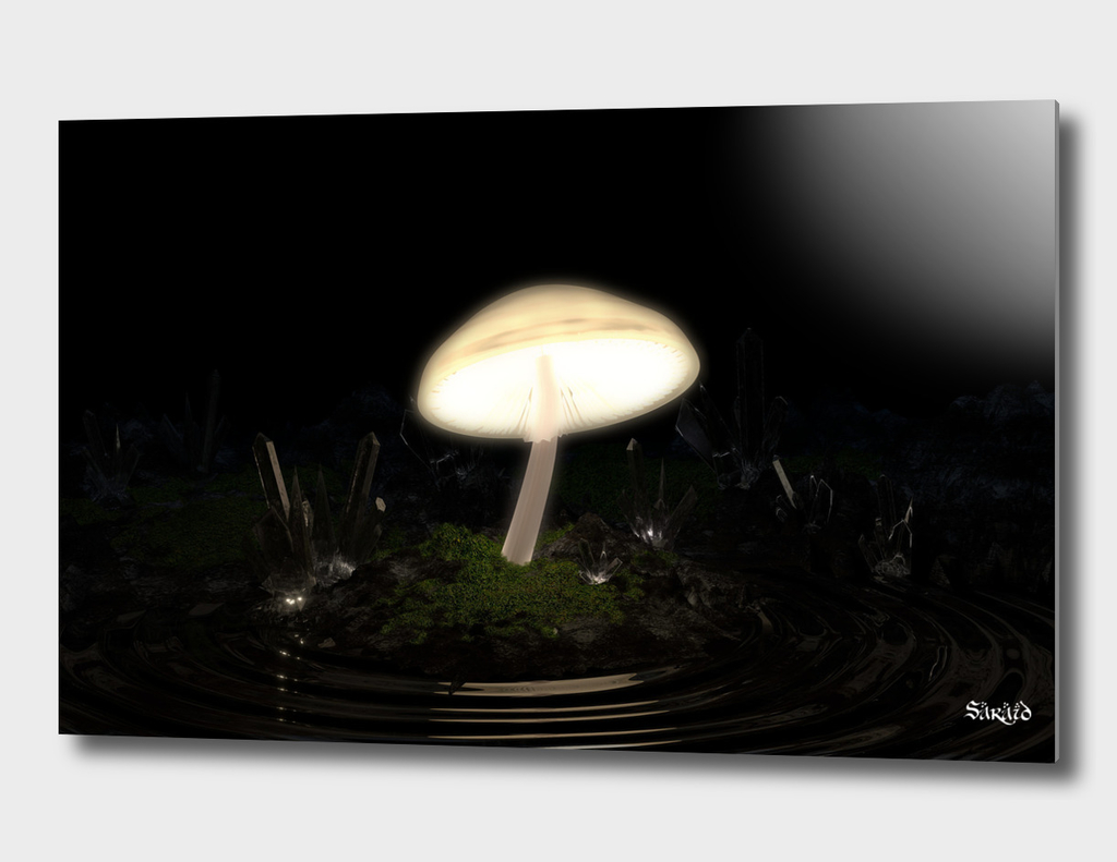 Glowing Mushroom in a Crystal Cave