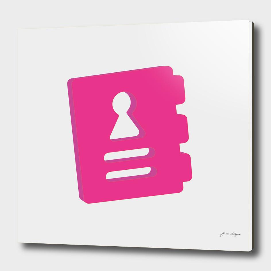 agenda isometric icon