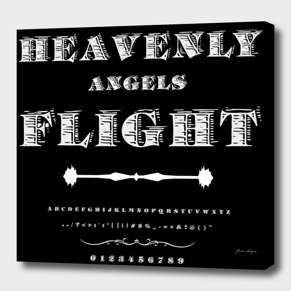 Font Script Typeface Heavenly angels Flight vintage s