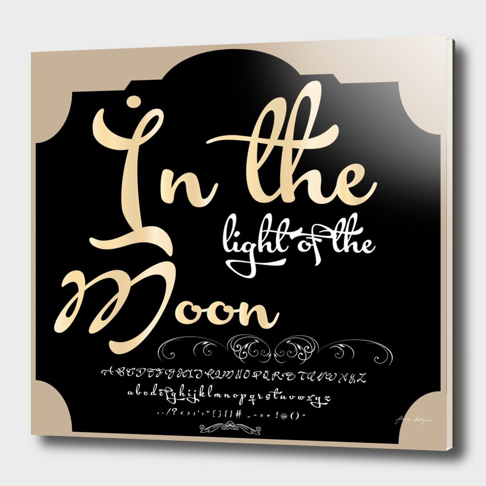 Font Script Typeface İn the light of the Moon vintage