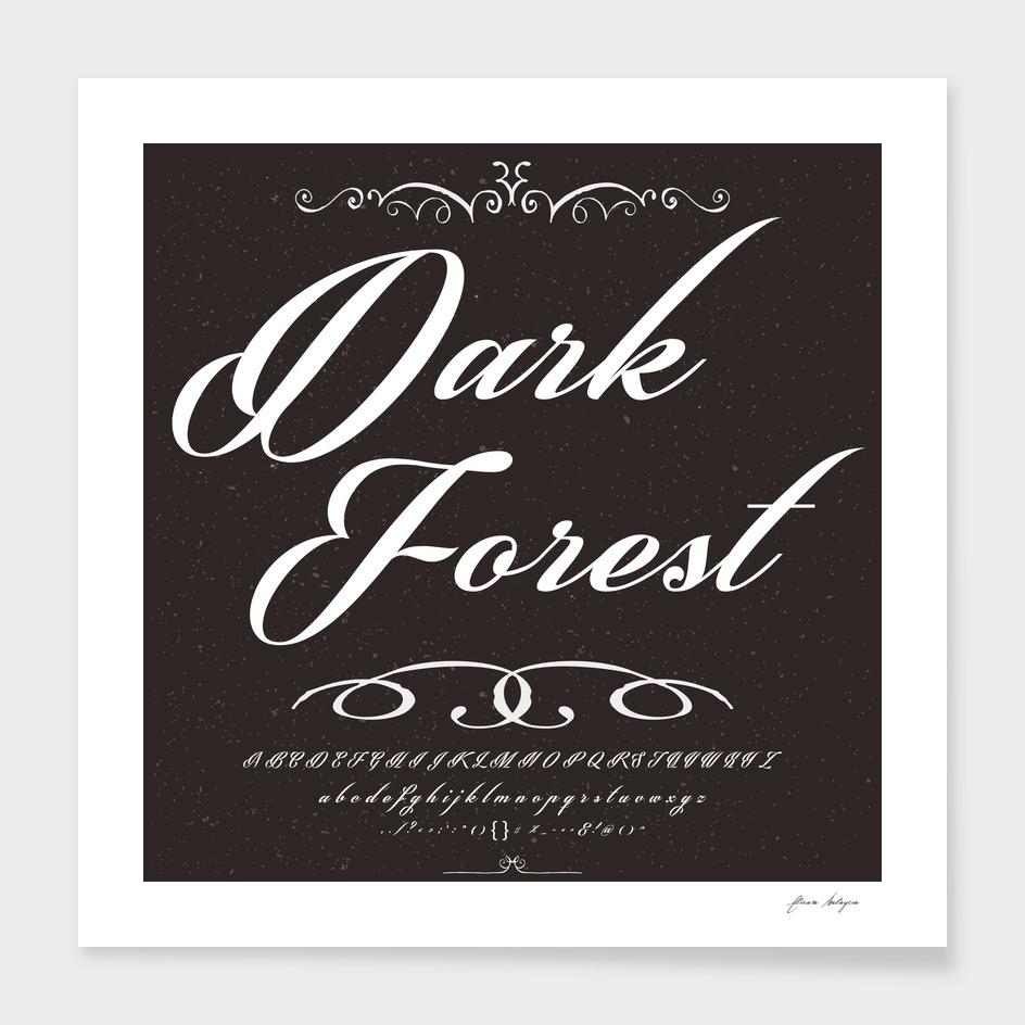 Font Script Typeface Dark forest vintage script font
