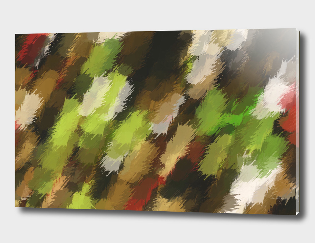 psychedelic graffiti camouflage splash painting in green