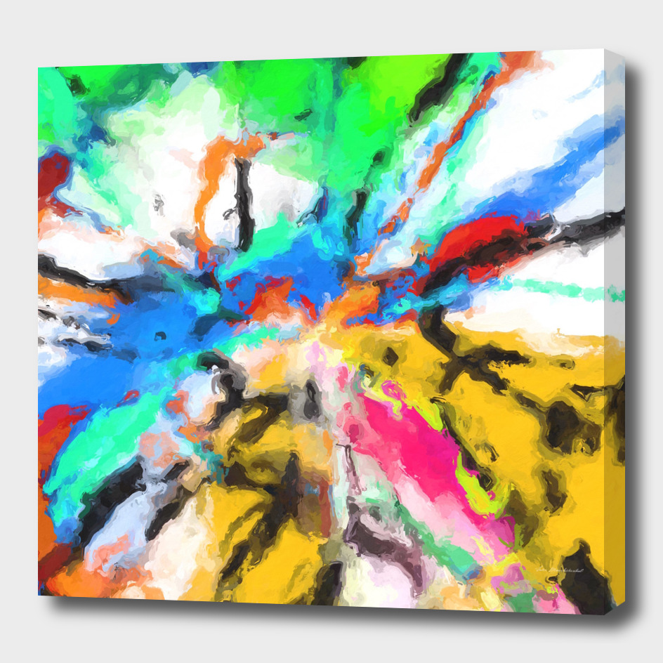 colorful splash psychedelic graffiti painting abstract