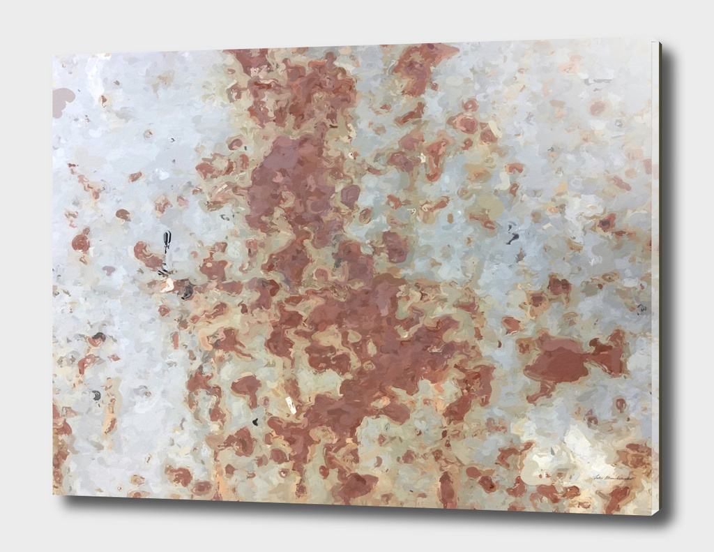 brown rusty surface with blue background