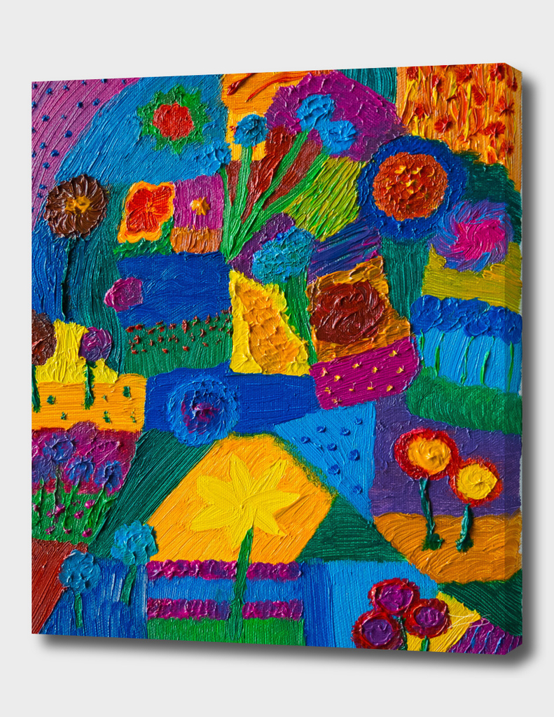 Patchwork Oil Painting