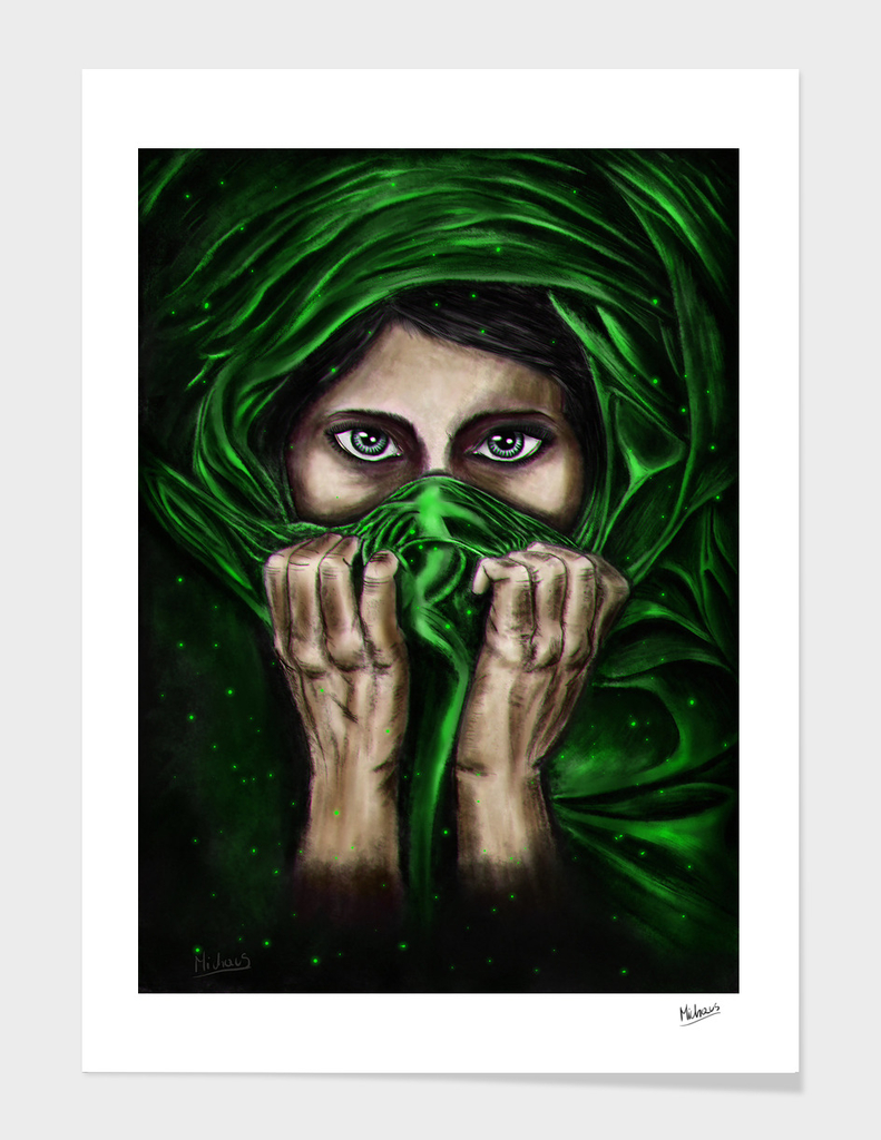Mysterious lady- green