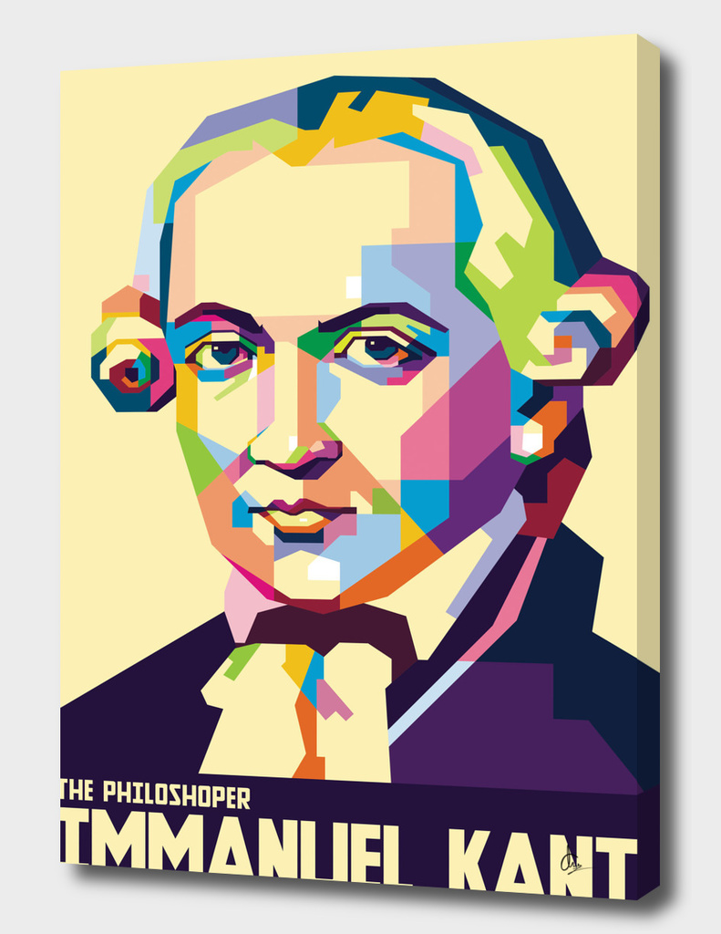 Immanuel Kant in Pop Art Portrait