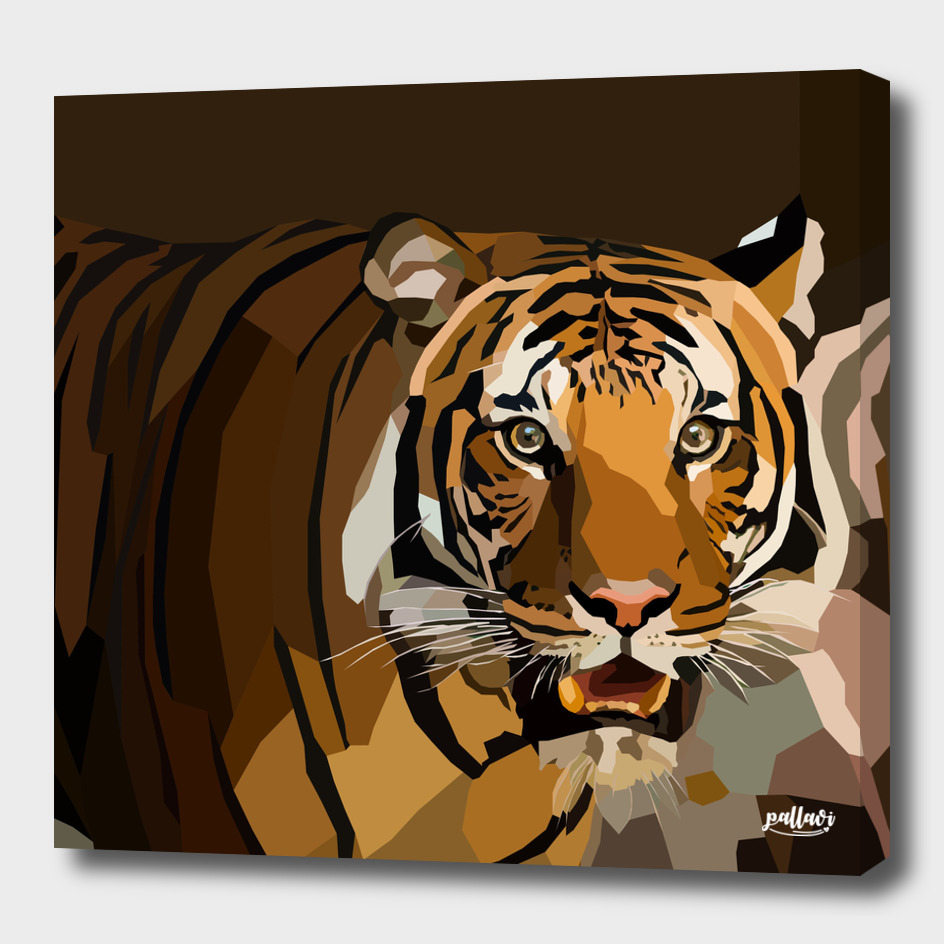 Tiger : Low Poly