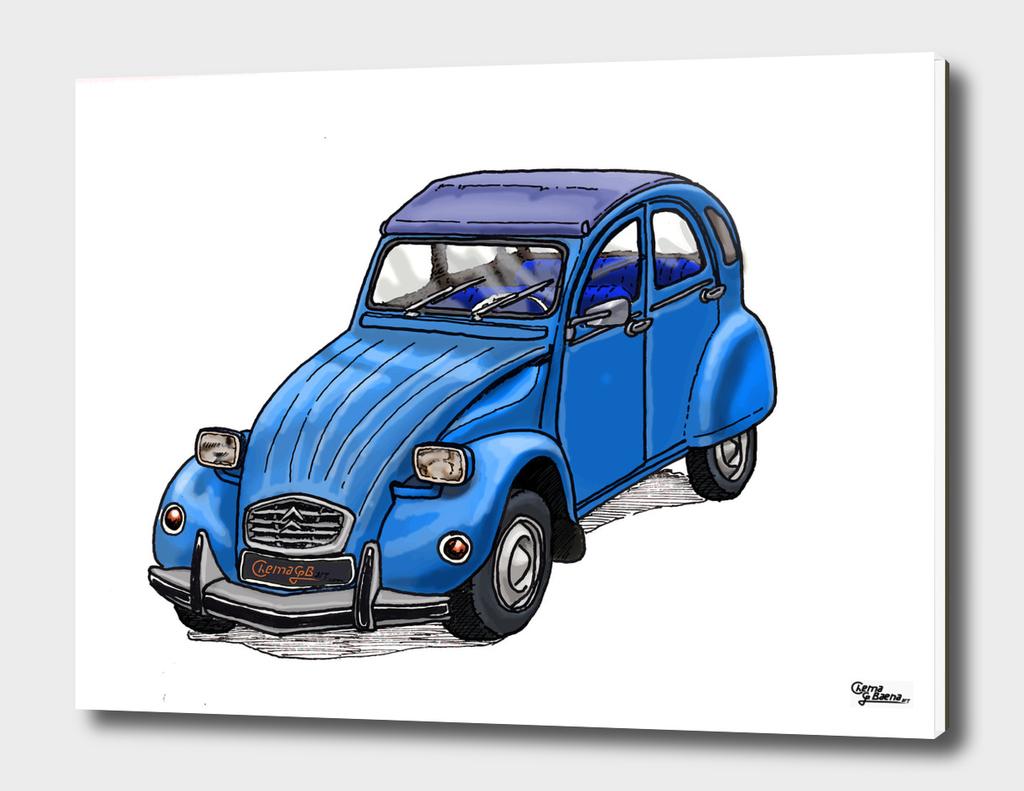 Blue 2CV