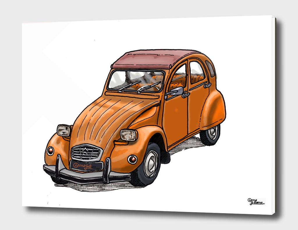 Orange 2CV