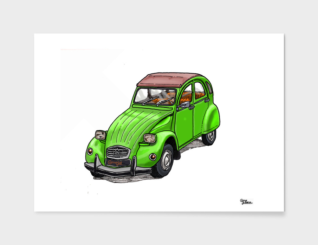 Green 2CV