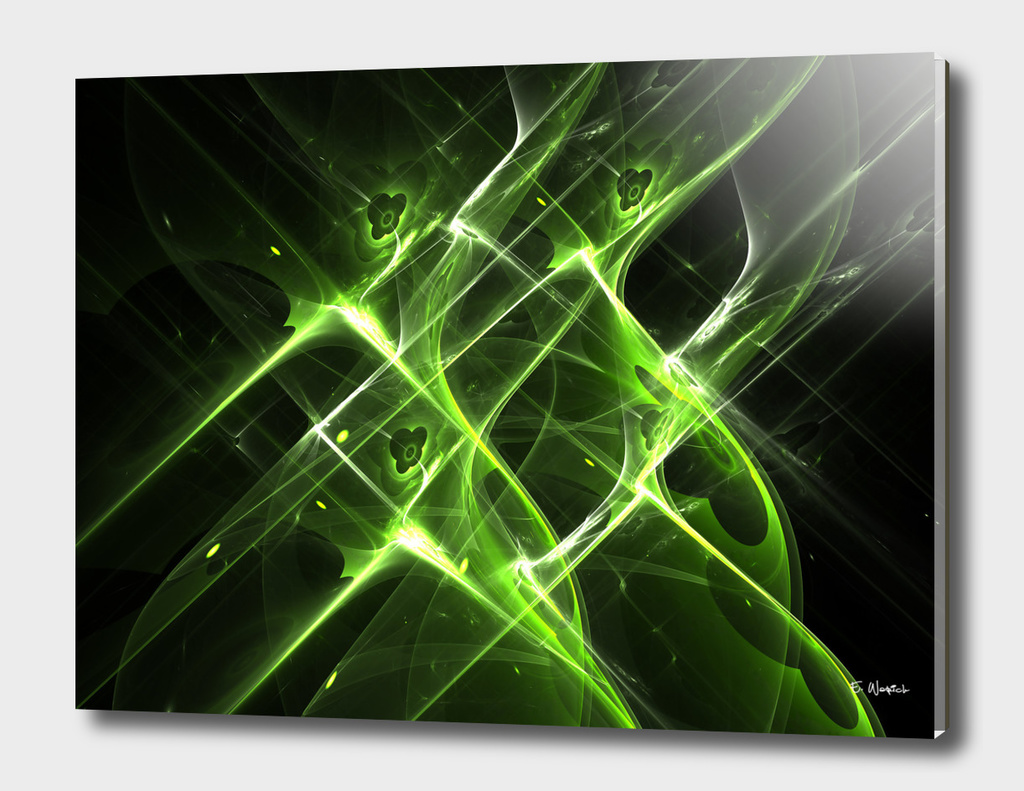 A Green Aura Abstract Art print