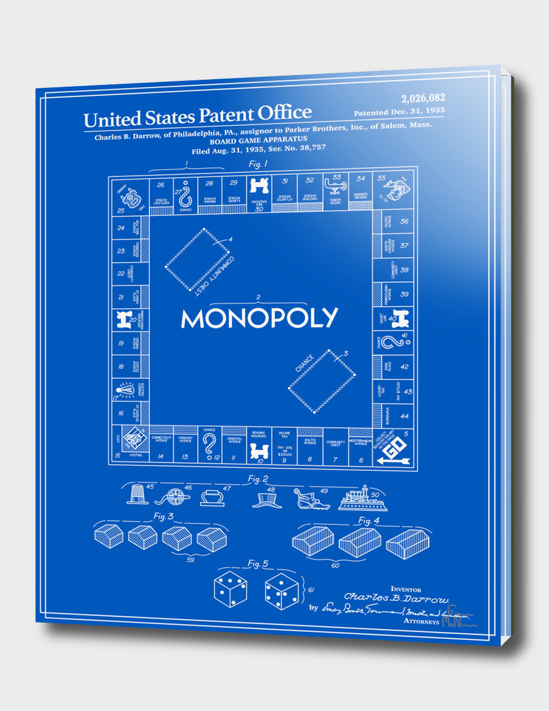 Board Game Patent - Blueprint