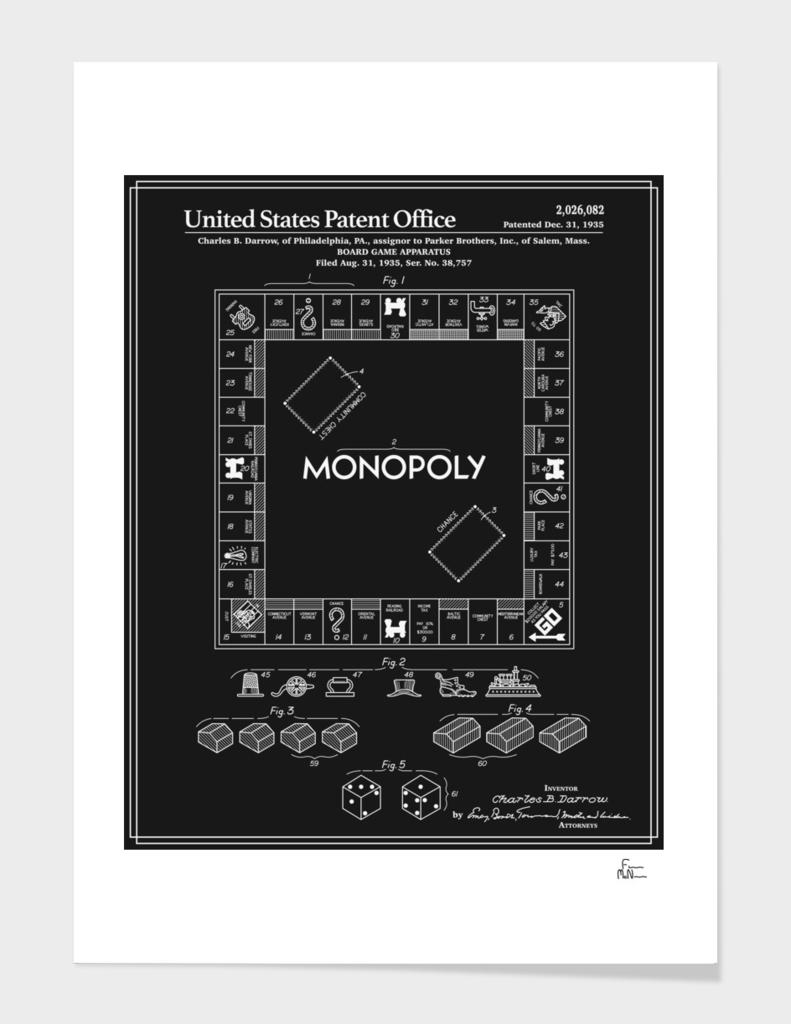 Board Game Patent - Black