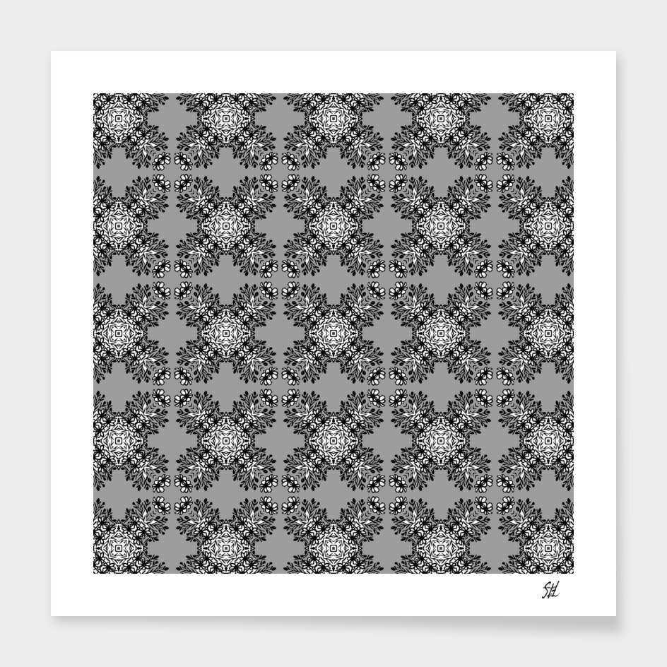Gray Symmetrical Pattern On White