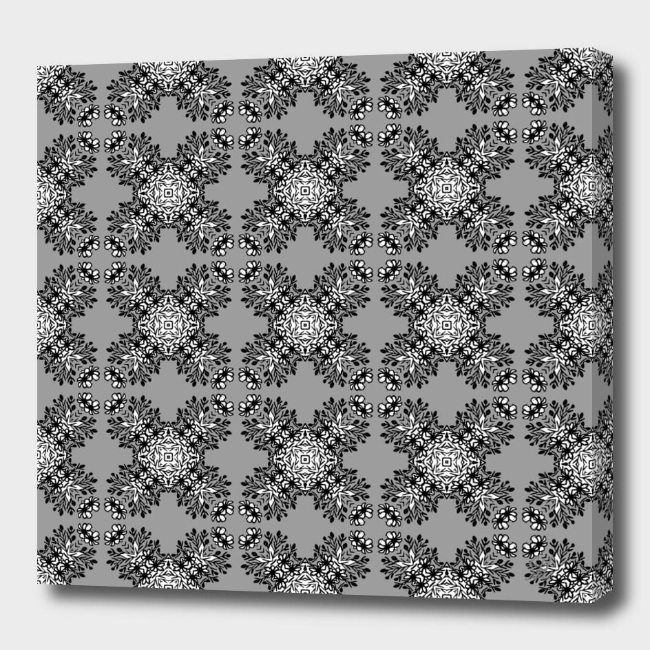 Gray Symmetrical Pattern On White