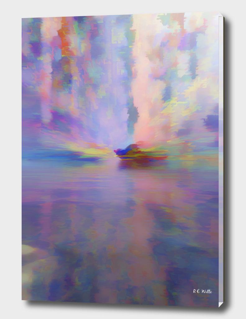 Pastel Dawn on the Lake