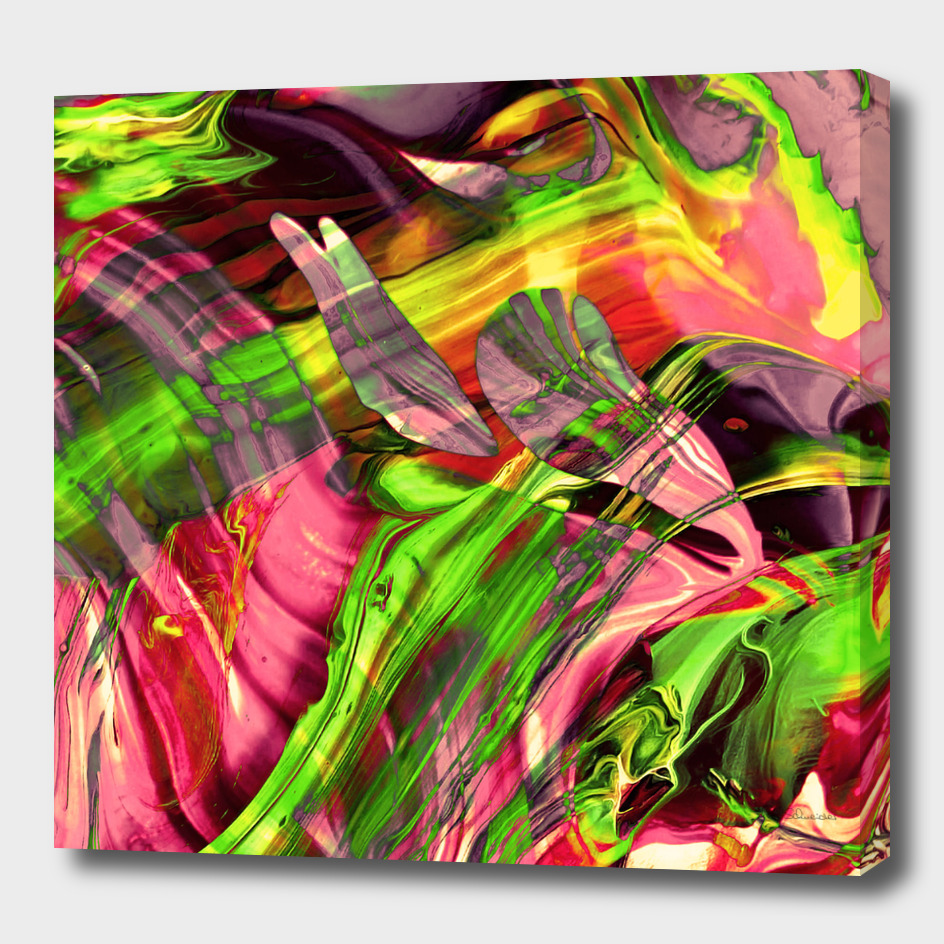 ABSTRACT COLORFUL PAINTING I-B