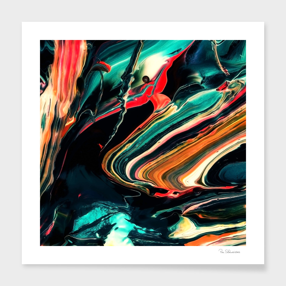 ABSTRACT COLORFUL PAINTING II-A2