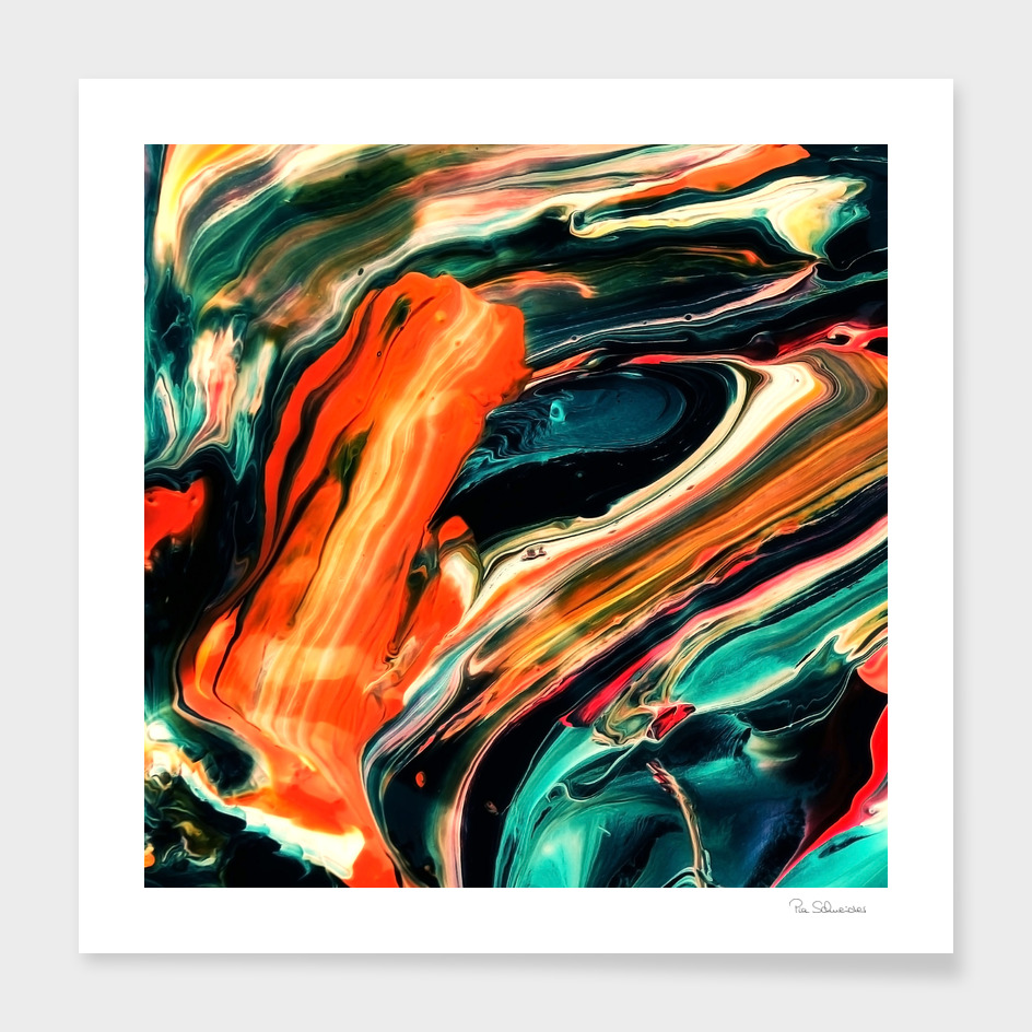 ABSTRACT COLORFUL PAINTING II-B3