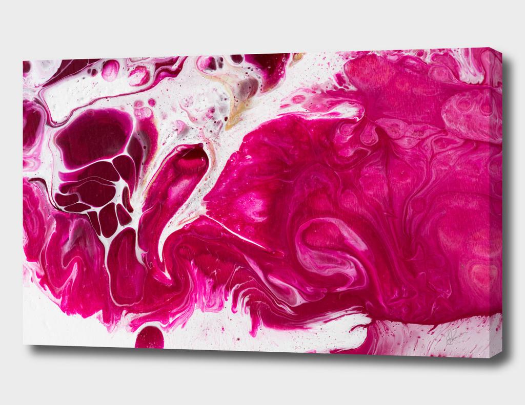 Fluid Expressions - Fuscia Flow II