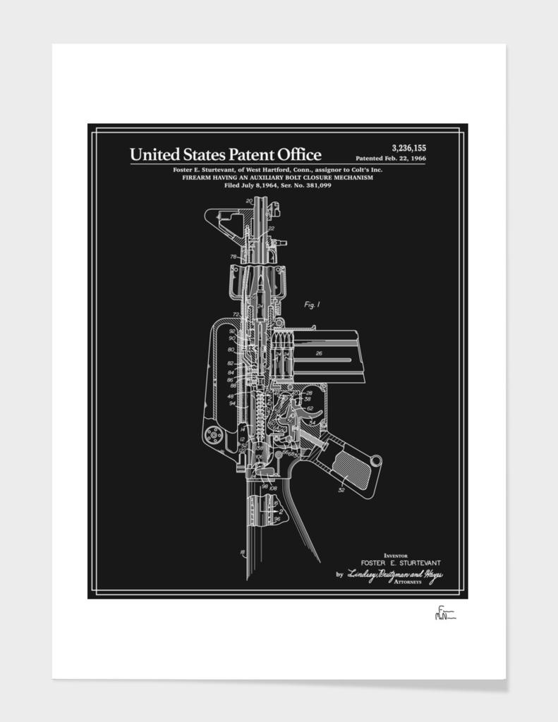AR-15 Semi-Automatic Rifle Patent - Black