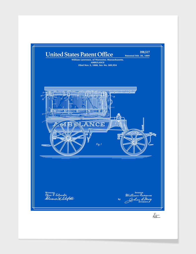 Ambulance Patent - Blueprint