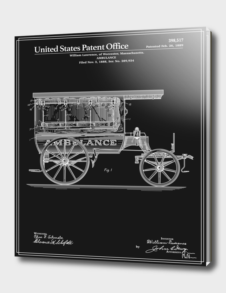 Ambulance Patent - Black