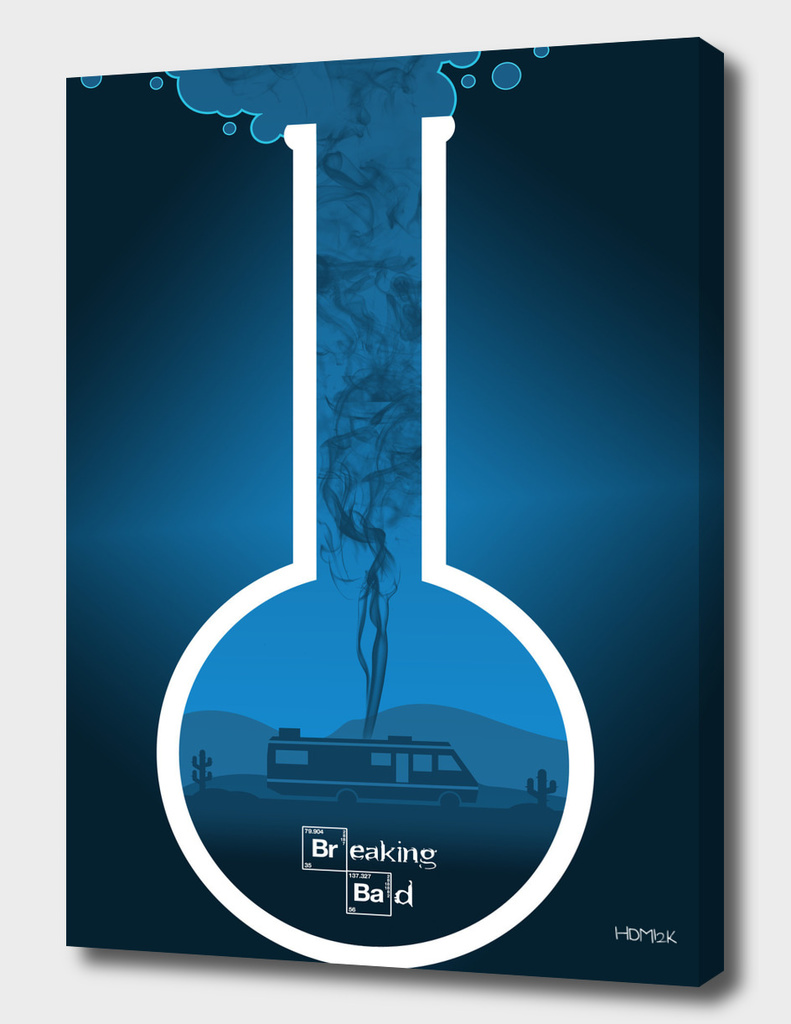 Breaking Bad - Minimal TV Poster - Crystal Blue