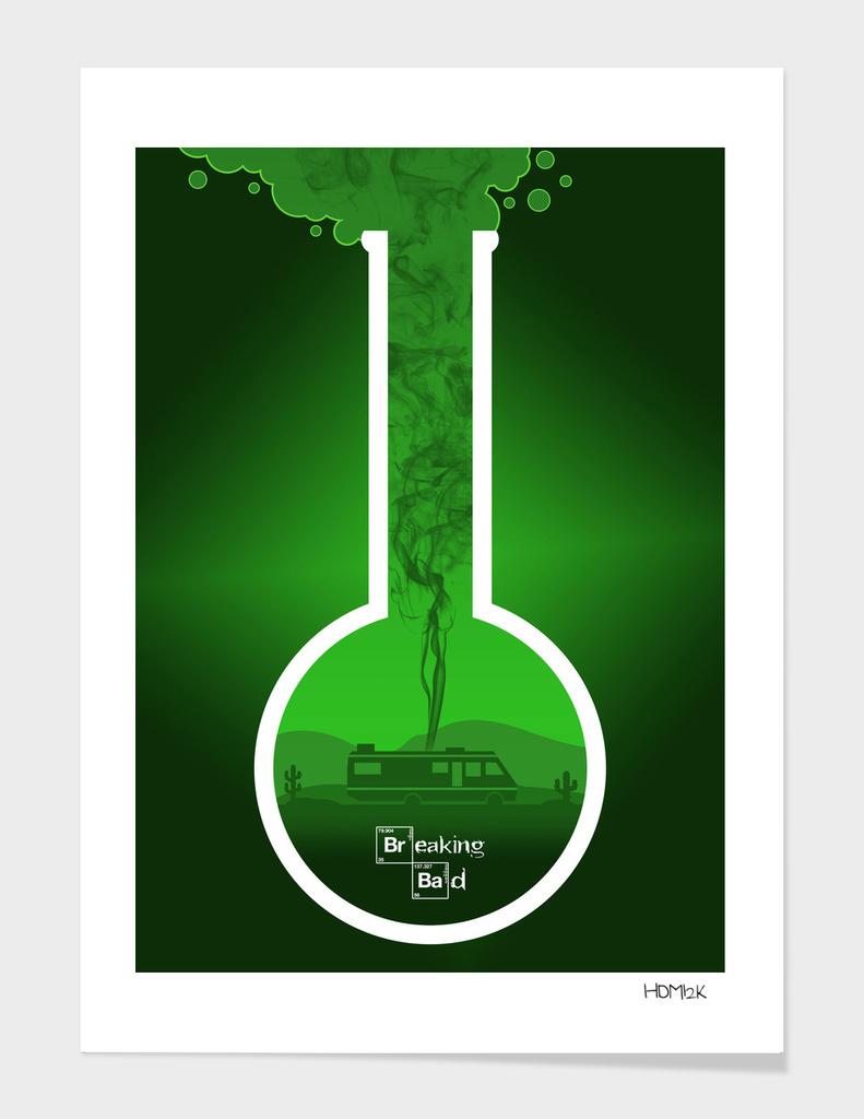 Breaking Bad - Minimal TV Poster - Br Ba Green