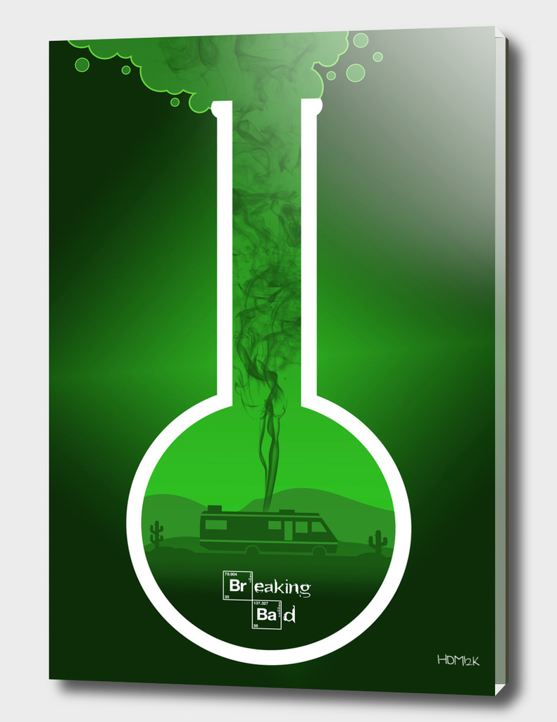 Breaking Bad - Minimal TV Poster - Br Ba Green