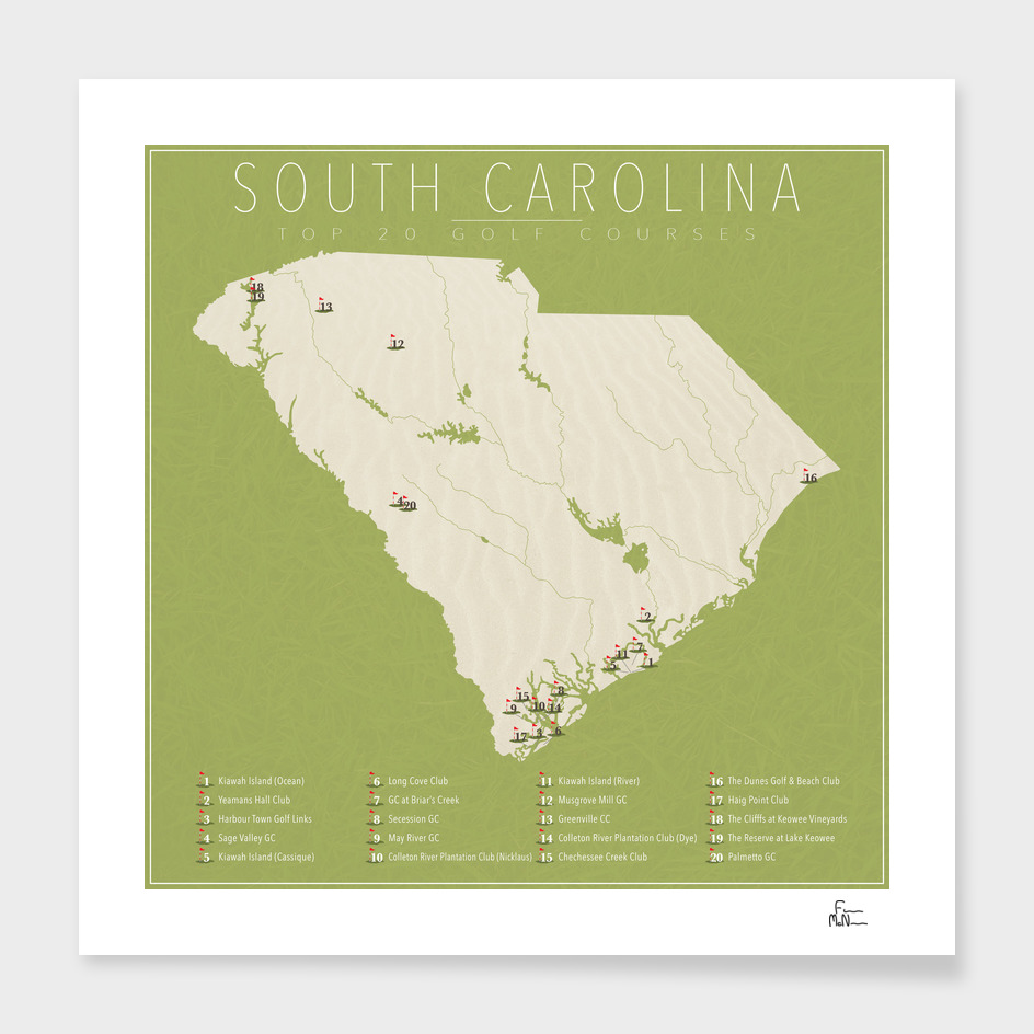 South Carolina Golf Courses