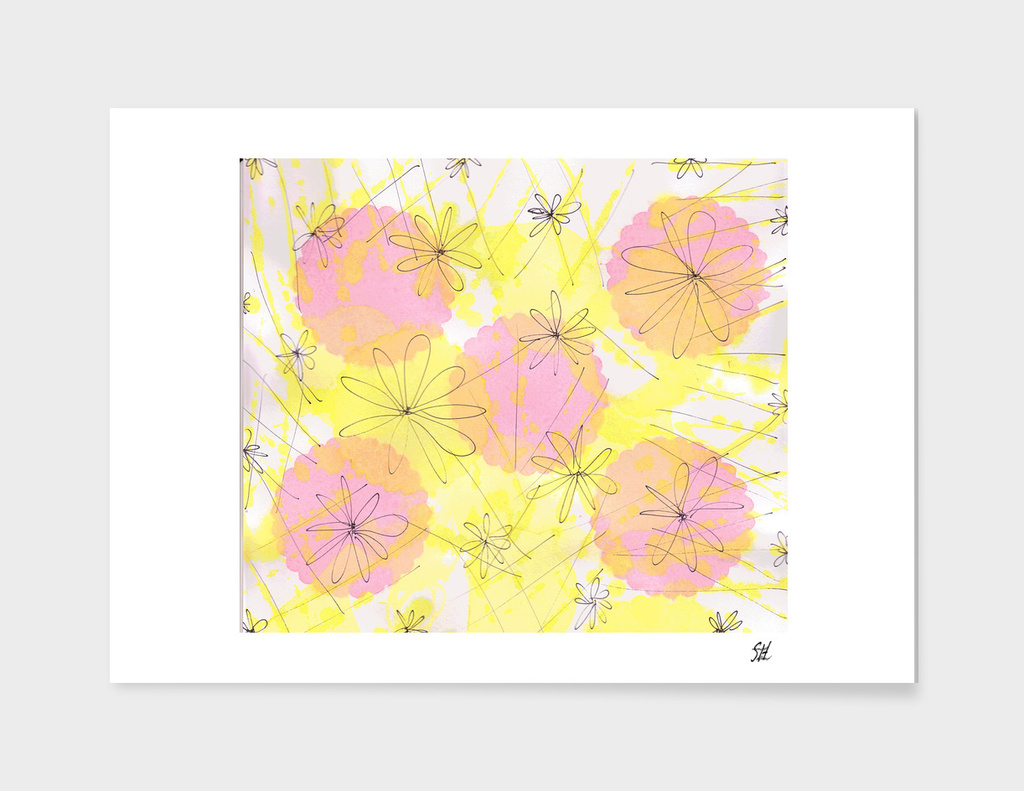 Happy Flowers ~ Pink & Yellow