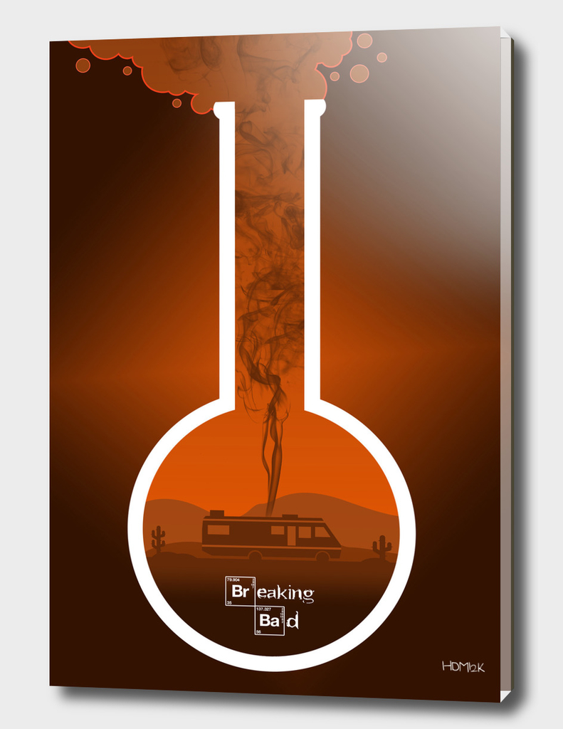 Breaking Bad - Minimal TV Poster - Orange