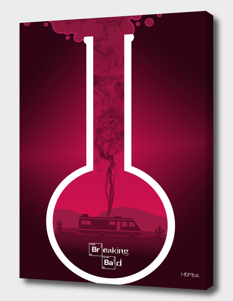 Breaking Bad - Minimal TV Poster - Pink-(man)