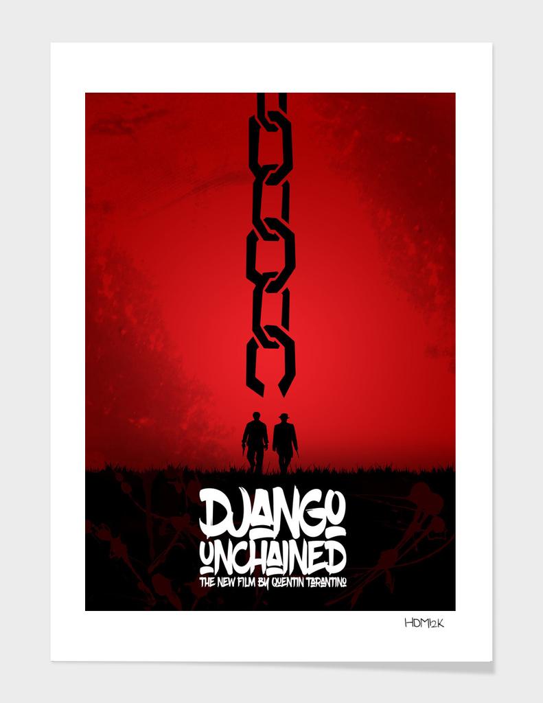 Django Unchained - Minimal Movie Poster