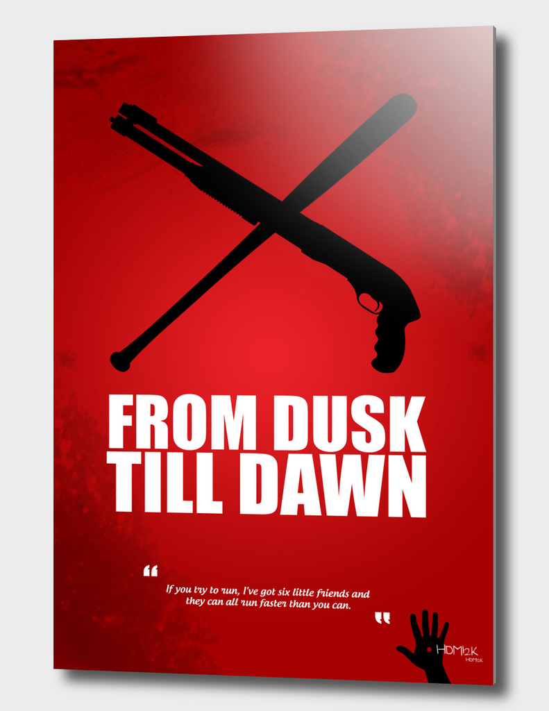 From Dusk Till Dawn - Minimal Movie Poster - Alternative
